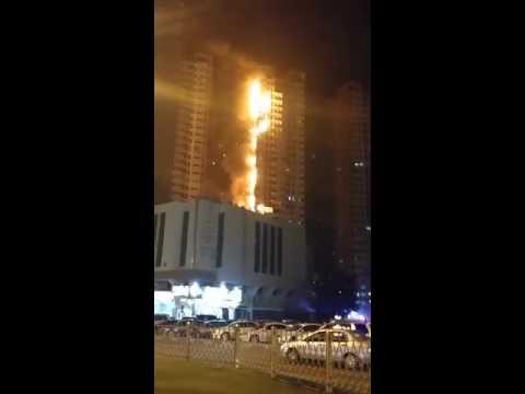 Firefighters battle huge blaze at Ajman tower near Dubai
