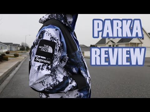 Supreme x TNF Mountain Parka Review + On Body (The North Face), FW17 Week 15