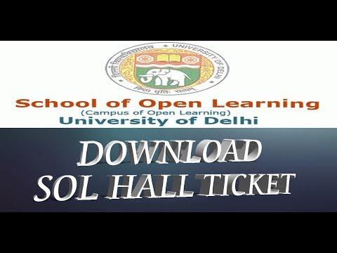 Download SOL Hall Ticket