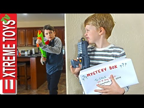 Sneak Attack Squad Training Part 2! Mystery Box Nerf Battle