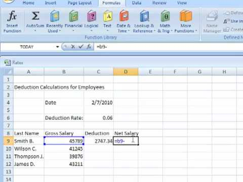 How to Create a Spreadsheet using Excel