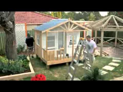 how to build a wood playhouse