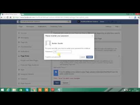 How to change facebook admin for your fan page?