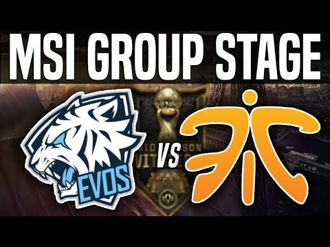 EVS vs FNC - MSI 2018 Group Stage Day 3 - EVOS Esports vs Fnatic | League of Legends MSI 2018