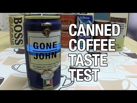 Canned Coffee Taste Test
