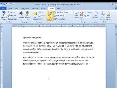 Track Changes And Comments Group in Review Tab Ms Word Video Tutorials in Hindi  - WWW.LSOIT.COM