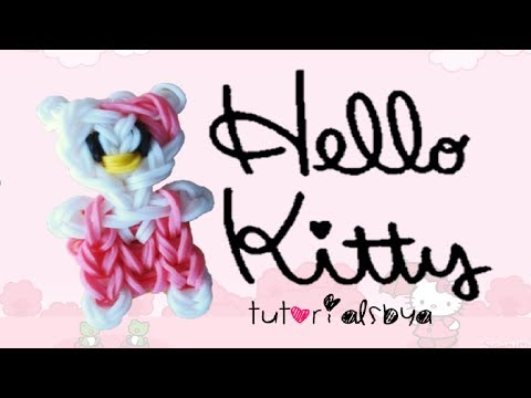 EASY VERSION Hello Kitty Rainbow Loom Charm/Figurine Tutorial