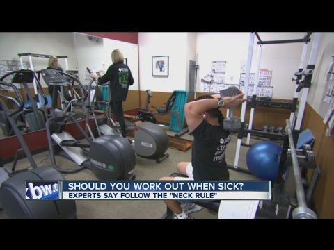 Should you exercise when sick?