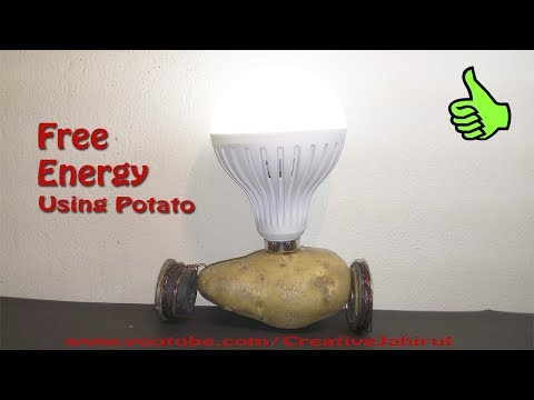 How to Make Free Energy at home | Get Electricity| Using Potato | TUTORIAL
