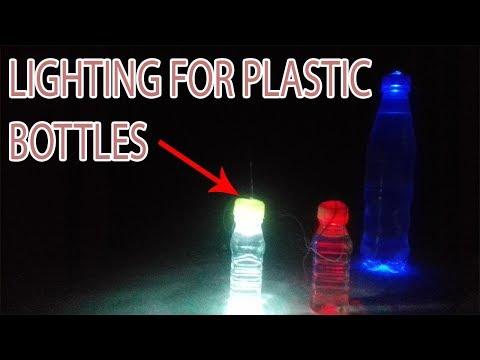 How to make a lighting for Plastic Bottles - best bottle craft