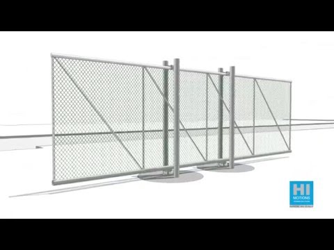 Cantilever sliding gates double post mounted