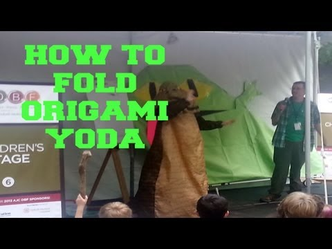 Making Emergency Origami Yoda with Tom Angleberger