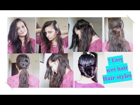 7 Easy Wet hairstyles| 2min easy BACK TO SCHOOL hairstyles|AlwaysPrettyUseful by PriyaChavaan