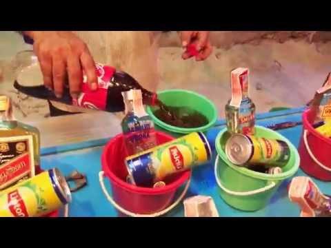 Full moon party bucket mixed drinks koh phangan thailand 2016