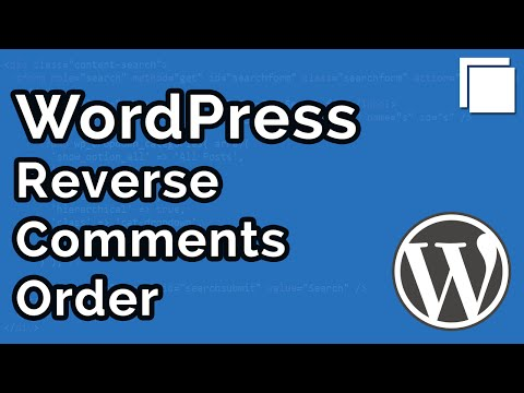 How to Change Comment Order in WordPress Tutorial