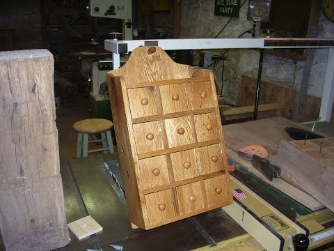Wooden spice cabinet DIY