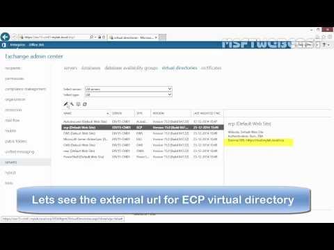 Configure External and Internal URL in Exchange 2013 SP1