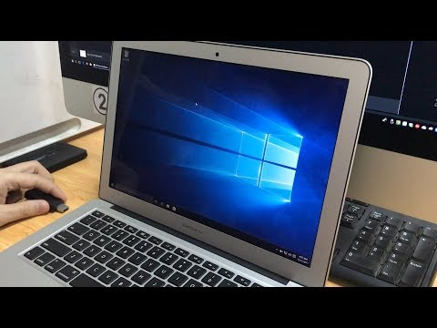 Install Windows 10 on your Macbook Air 2017 (no Dual boot)