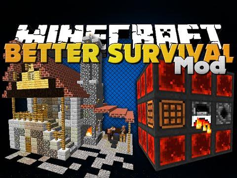Minecraft - BETTER SURVIVAL MOD - FOUR GREAT MODS