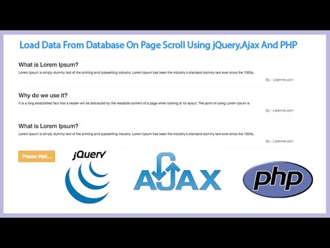 Auto Load Data on Page Scroll using jQuery Ajax PHP from MySQL