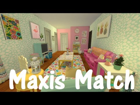 The Sims 4: Speed Build - MAXIS MATCH APARTMENT / WITH CC LINKS