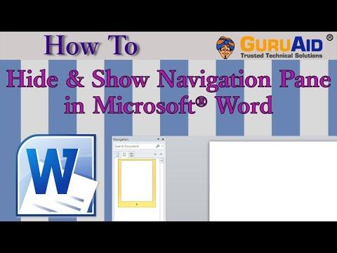 How to Hide & Show Navigation Pane in Microsoft® Word - GuruAid