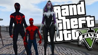 Download SPIDER-MAN: INTO THE SPIDER-VERSE HAVING A SUPER BABY MOD (GTA 5 PC Mods Gameplay) Video