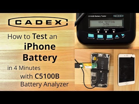 How to test an iPhone 6+ battery with Cadex C5100B in 4 minutes