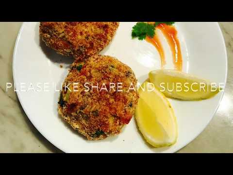 How to make zero oil Baked Salmon Fish Cakes ~ LoveForFood