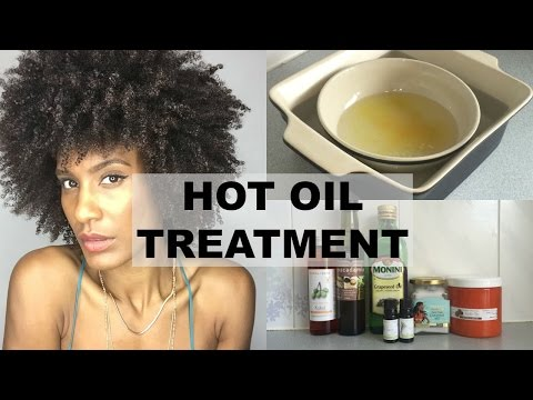 Overnight Hot Oil Treatment For Dry/Damaged Natural Afro Kinky Hair