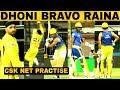 DAY 3 Dhoni Bravo Raina Batting Harbhajan Bowling IPL 2019 Chennai Super Kings