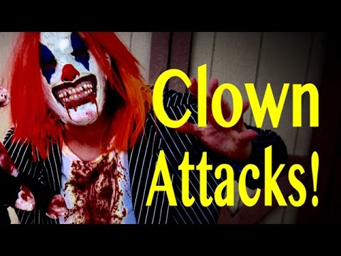 Creepy Clown Attack  - CAUTION  this video is VERY scary! ✅