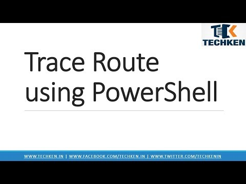 How to Trace Route Remote Computer using Powershell