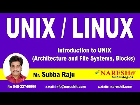 UNIX Architecture and File Systems, Blocks | UNIX Tutorial | Mr. Subba Raju