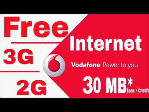 How to get 3g internet loan / credit in vodafone sim card How to get net loan in vodafone?