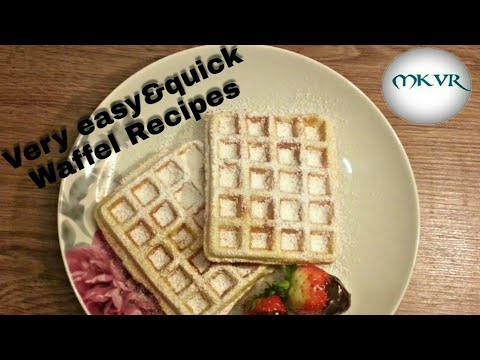 Eggless Waffel Recipe Quick made