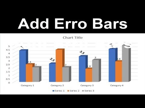 MS Office Tutorial: How to Add Error Bars to a Line Chart in Microsoft Word Document 2017