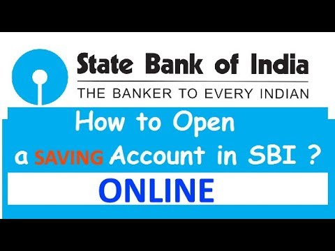 HOW TO OPEN A SAVING ACCOUNT IN SBI  ONLINE IN HINDI 2018 LATEST