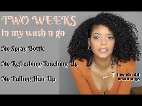 TWO WEEKS in my Wash and Go | Natural Hair 3C 4A