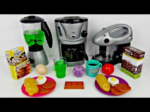 Making Breakfast Kitchen Playset with Blender, Mixer & Coffee Maker Toys
