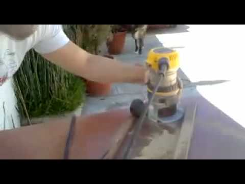 How to cut a melamine circle with a router.