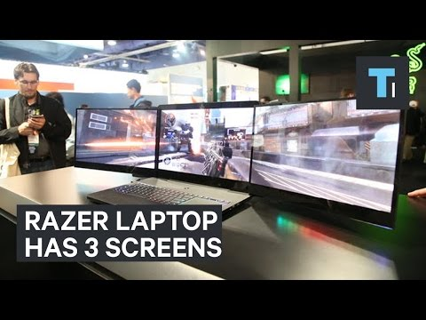 This Razer laptop comes with 3 screens that fold out