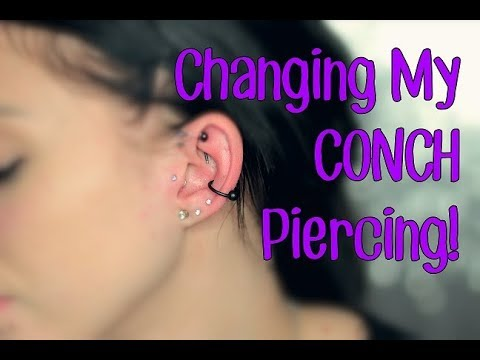 Changing My CONCH Piercing | First Time!