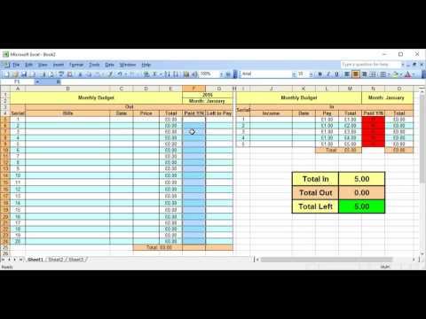 Excel 2003; How to make a Dropdown Menu