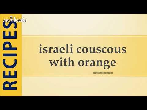 israeli couscous with orange