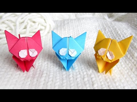 Cute Origami Kitten 🐱 Cat Easy Tutorial and Instructions