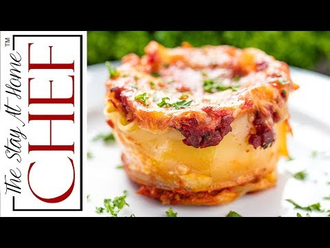 How to Make Mini Lasagna Cups | The Stay At Home Chef