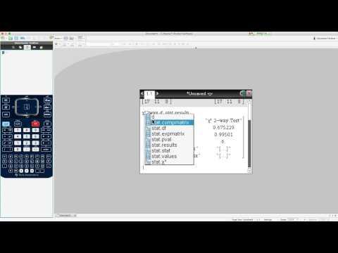 Chi Square calculator skills