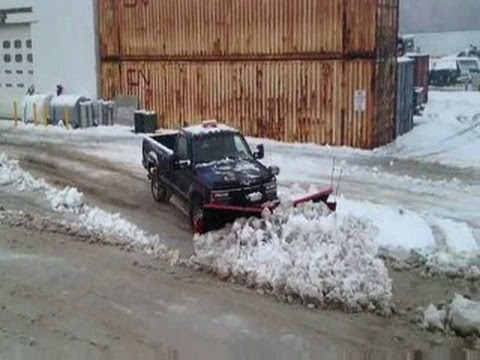 World largest snow push with a diesel pickup truck! BIGGEST VOLUME.