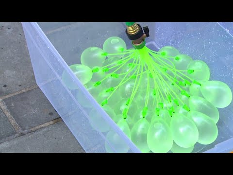 How To Fill 100 Water Balloons In 1 Minute | TODAY